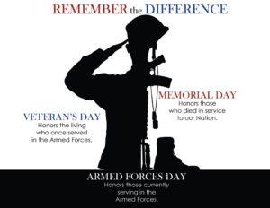 veterans memorial armed forces days