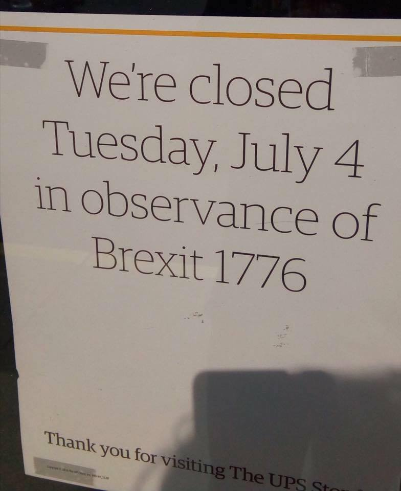 brexit1776 brexit 1776? happy independence day! st john's ucc